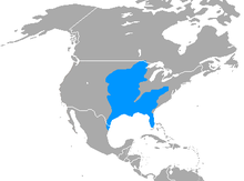 Map showing North America