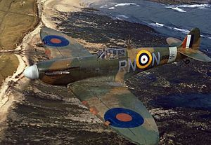 No. 72 Squadron RAF - A 72 Sqn Spitfire IIA in April 1941.