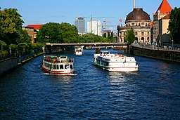 Spree i centrala Berlin.