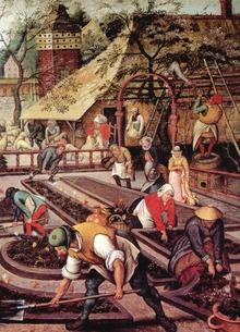 """Painting """"Spring"""" by Brueghel"""