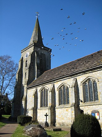 Lingfield, Surrey - Image: St.Peter and St.Paul, Lingfield geograph.org.uk 1741024