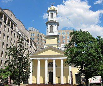 "Episcopal Church (United States) - St. John's Episcopal Church, built in 1816 in Washington, D.C., is known as the ""Church of the Presidents"" for the many presidents who have worshiped there."