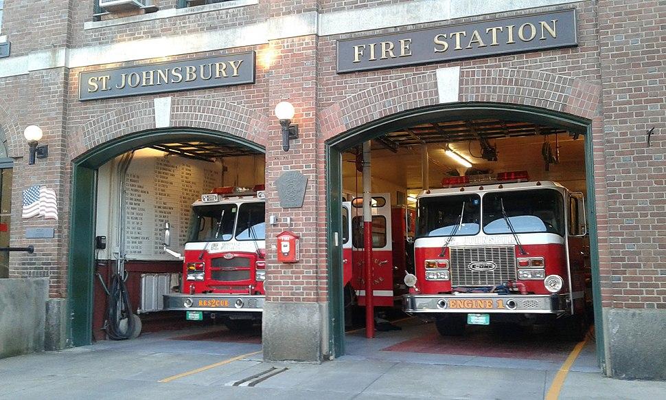 St. Johnsbury Fire Station downtown St. Johnsbury VT September 2012