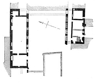 St James' Priory, Bristol - A plan of the priory from 1882