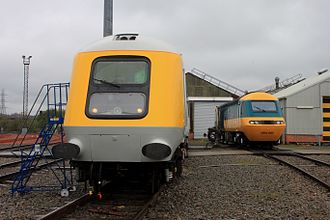 British Rail Class 43 (HST) - Prototype power car 41001 (left) with first production power car 43002