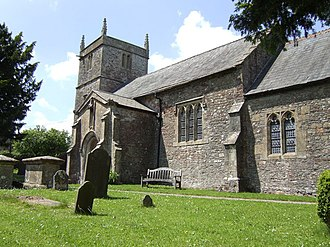 Stratton-on-the-Fosse - Image: St Vigors church, Stratton on the Fosse