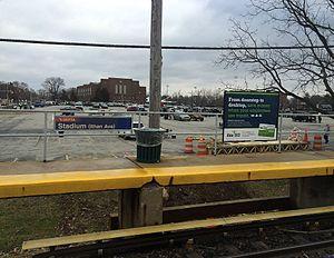 Stadium–Ithan Avenue station - Image: Stadium Ithan Ave