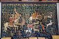 Stag hunt, Franco-Flemish Gothic, mille-fleurs tapestry, woven c. 1500 AD - Hearst Castle - DSC06346.JPG