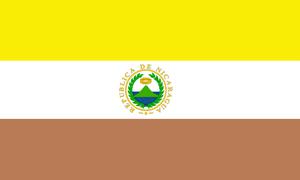 Flag of Nicaragua - Image: State Flag of Nicaragua (1854 1858)
