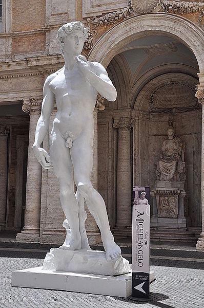 David, av Michelangelo skapad i romersk stil