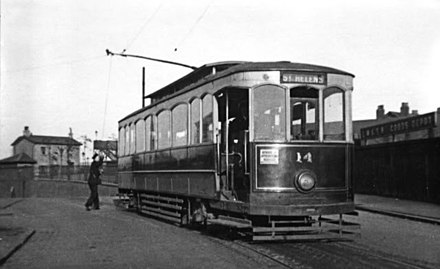 One of St Helens Corporation's trams.