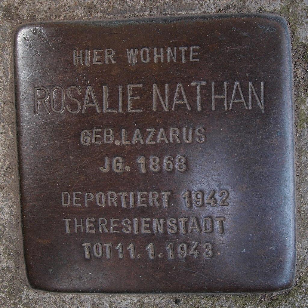 Stolperstein Bingen Am Burggraben 1 Rosalie Nathan.jpg