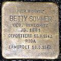 Stolperstein Hektorstr 13 Betty Sommer.JPG