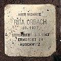 Stolperstein Hektorstr 16 (Halsee) Rita Orbach.jpg