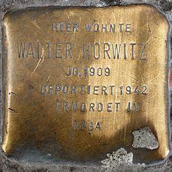 Photo of Walter Horwitz brass plaque