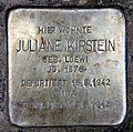 Stolperstein Zähringerstr 25 (Wilmd) Juliane Kirstein.jpg