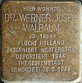 Stolpersteine Aachen, Dr. Werner Josef Walbaum (Krefelder Straße 16).jpg