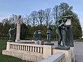 Stone and metal statues in Frogner Park.jpg