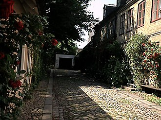 Lund - A street in the old part of the town