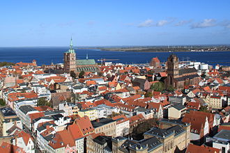 Stralsund - View over Stralsund from the tower of St Mary's
