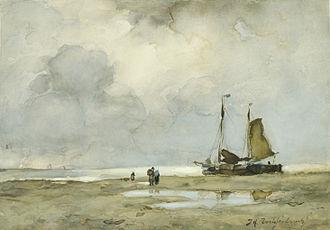 Jan Hendrik Weissenbruch - Jan Weissenbruch (1895): Strandgezicht Rijksmuseum, Amsterdam