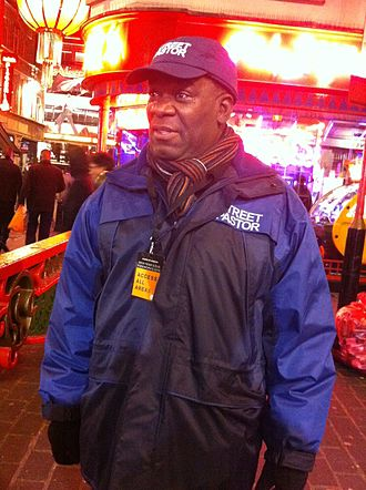 Les Isaac on Street Pastor patrol in Brixton.