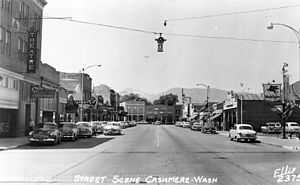 Cashmere, Washington - Downtown Cashmere in the 1950s