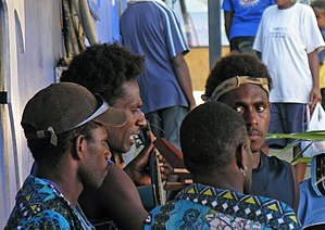 Culture of Vanuatu - String band musicians performing in Port Vila.
