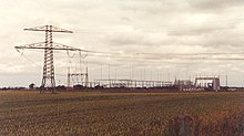 Converter station for Kontek HVDC ín Bentwisch, Germany.
