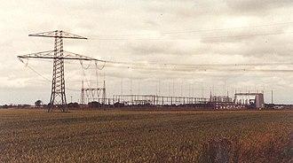 Kontek - Converter station for Kontek HVDC ín Bentwisch, Germany.