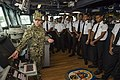 Students of the Fiji Maritime Academy tour the bridge of the USS Shoup.jpg