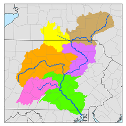 Sub-watersheds of the Susquehanna River.png