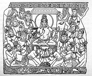 Family of Gautama Buddha - King Sudhodana and his court