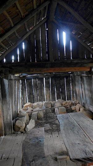 Suggan Buggan, Victoria - Image: Suggan Buggan schoolhouse interior Stevage