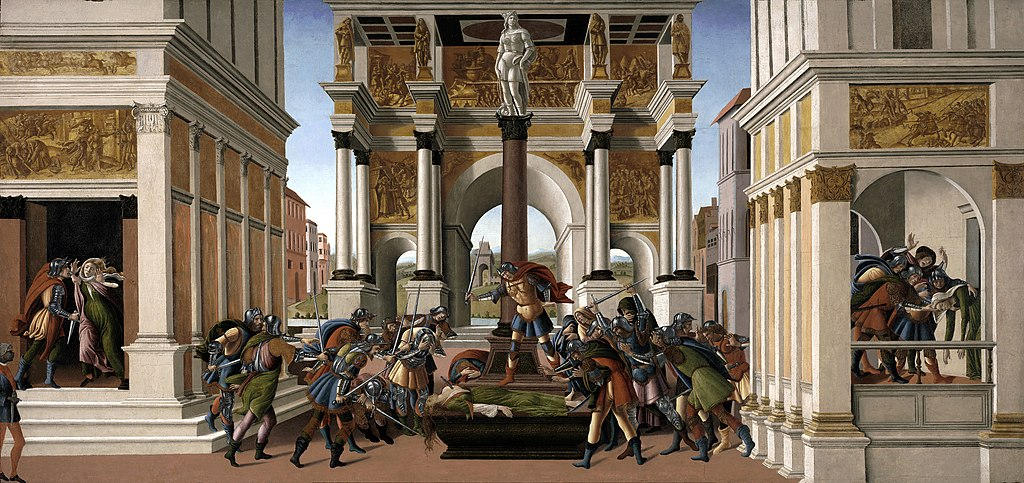 """The Story of Lucretia"" by Sandro Botticelli"