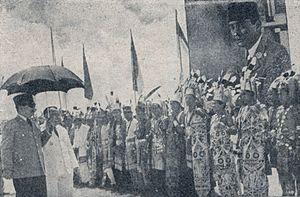 Sukarno with adat people in West Kalimantan, Bung Karno Penjambung Lidah Rakjat 252