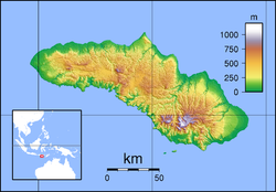 Map showing the location of Laiwangi Wanggameti National Park