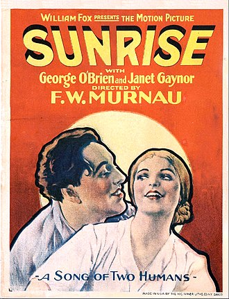 Sunrise: A Song of Two Humans - Theatrical release poster