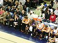 Suns bench at Phoenix at Golden State 3-15-09.JPG
