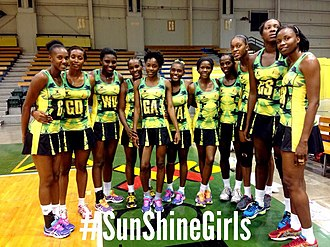 Jamaica national netball team - Image: Sunshine Girls 2015