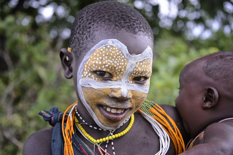Indigenous African Face Paint