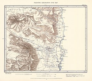 Kafra - Image: Survey of Western Palestine 1880.09