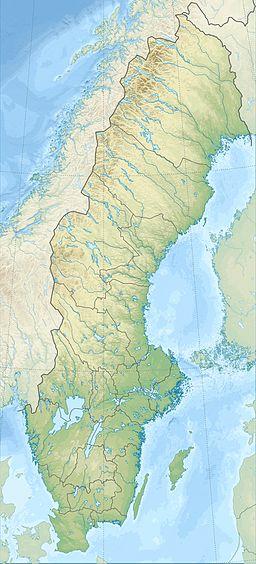Universeums läge i Sverige