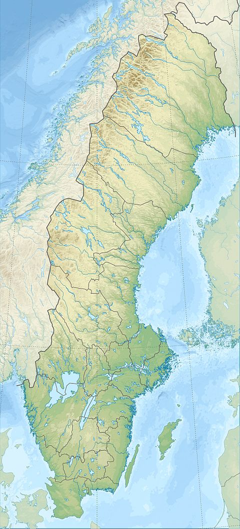 Kebnekaise Wikiwand - Sweden map bd6