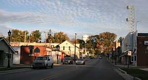 Syracuse, Indiana - Downtown, looking north.