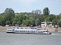 Szent László (ship, 1988) and Sirály boathouse, 2018 Újlipótváros.jpg