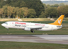 351e7e92031fe A former Pegasus Airlines Boeing 737-400 in the old livery. Circa 1998