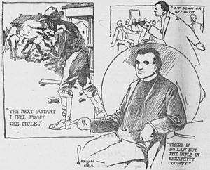 Charles N. Landon - 1904 newspaper illustration by Landon