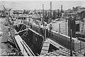 """THE Y.M.C.A. BUILDING IN JERUSALEM, DURING ITS CONSTRUCTION. מראה כללי של אחד משלבי הבנייה של בניין ימק""""א בירושלים.D637-040.jpg"""