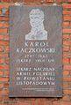 Tablica Karol Kaczkowski ul. Ujazdów 1A w Warszawie.JPG